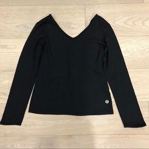 Lululemon v-neck long sleeve, VINTAGE, black
